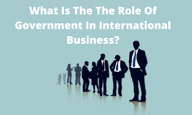What Is The The Role Of Government In International Business